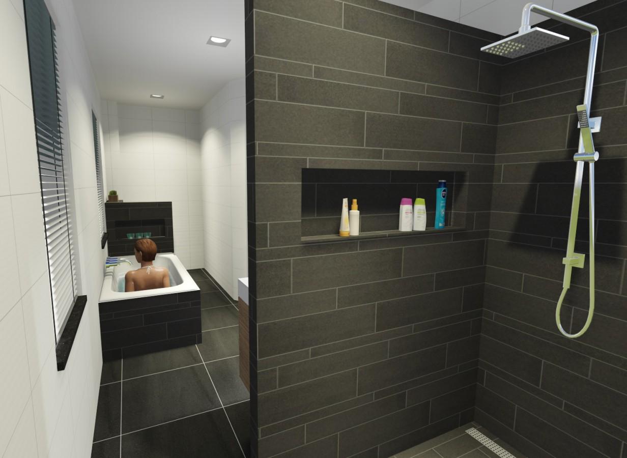 Ontwerp badkamer nieuwbouw woning Rijkevoort