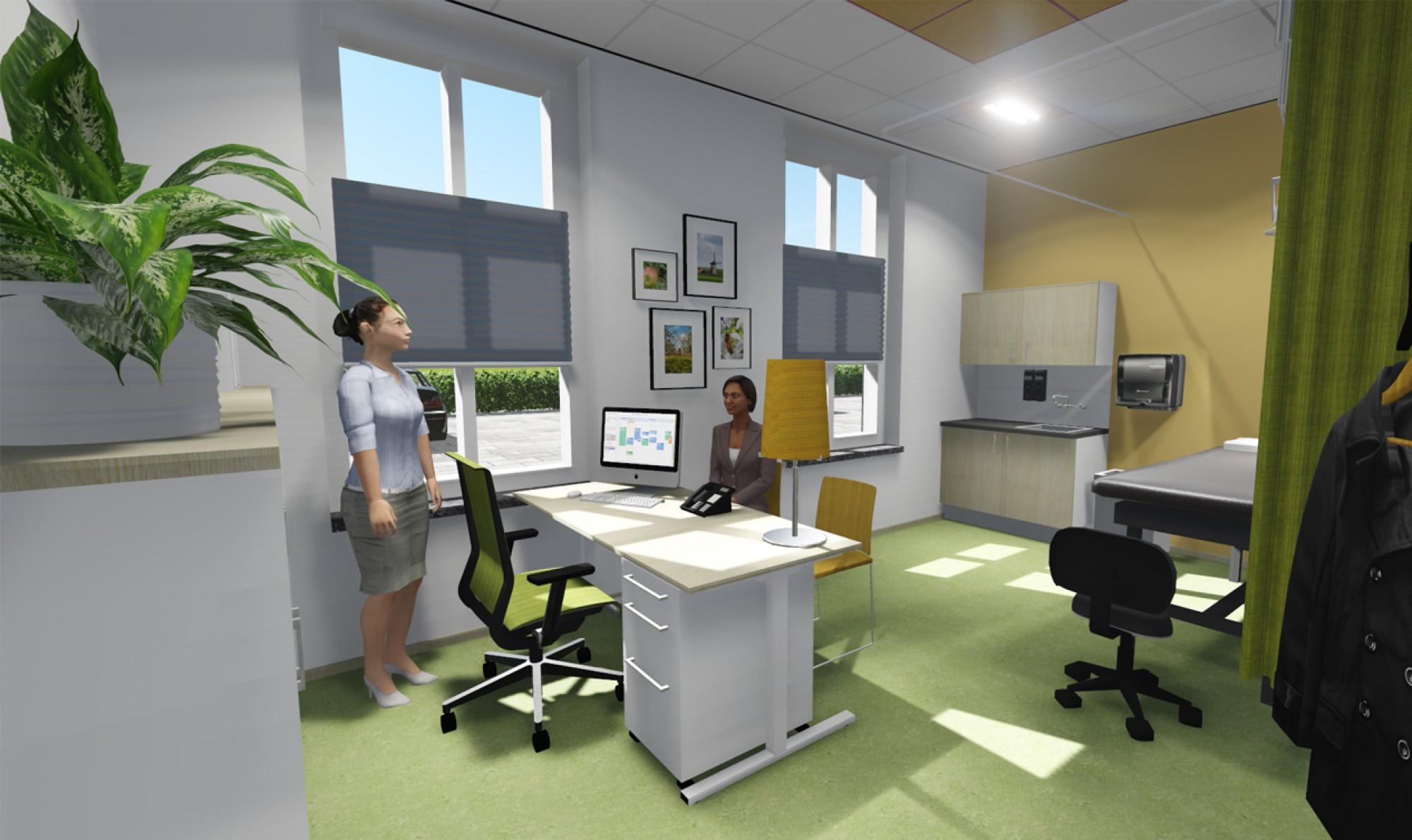 3D visualisatie huisartsenpraktijk